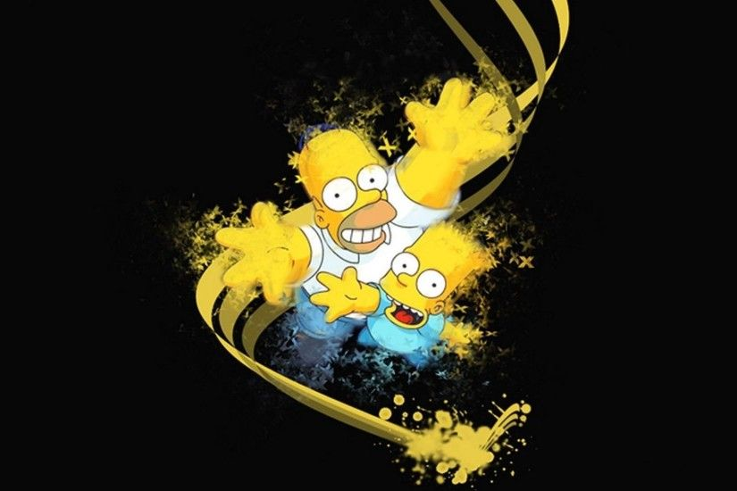 background wallpaper black homer wallpapers papers simpsons