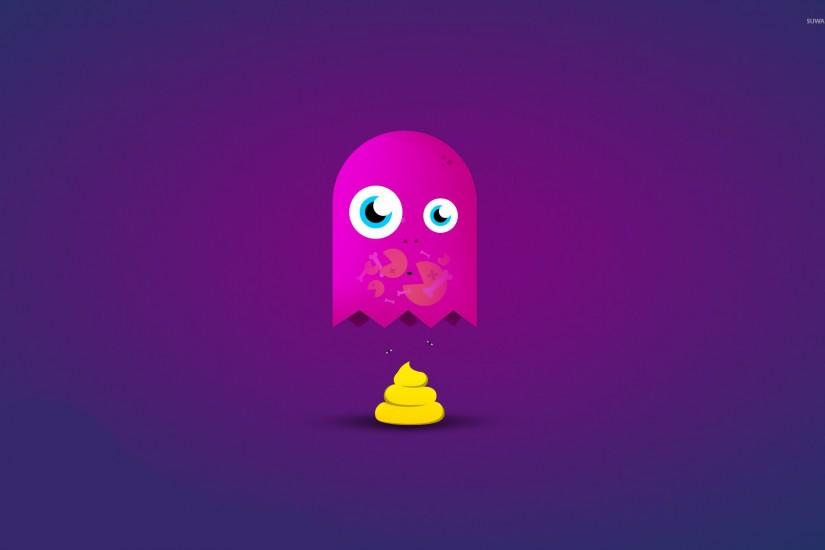 Pacman has been eaten wallpaper