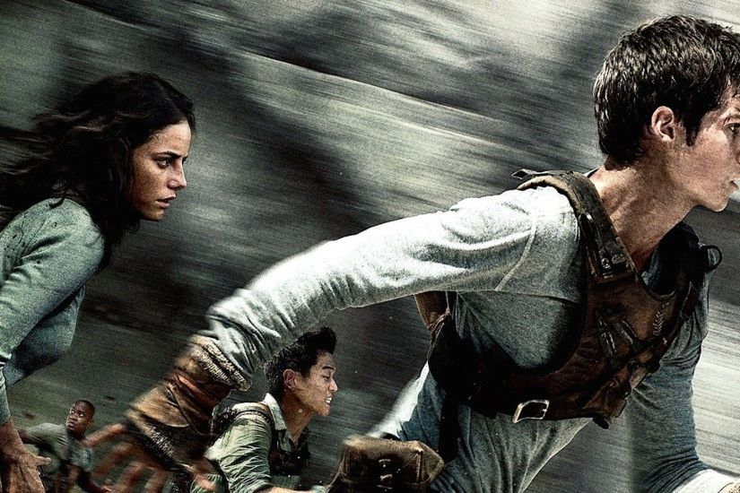 Kaya Scodelario and Dylan O'Brien in The Maze Runner | Best HD Wallpapers  and Covers