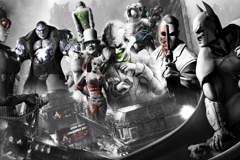 Harley Quinn, Joker, Harvey Dent, Batman: Arkham City, Batman, Catwoman