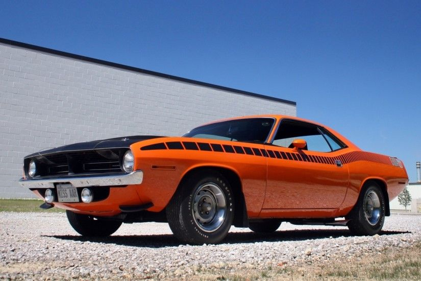 Orange Hemi Cuda Wallpaper