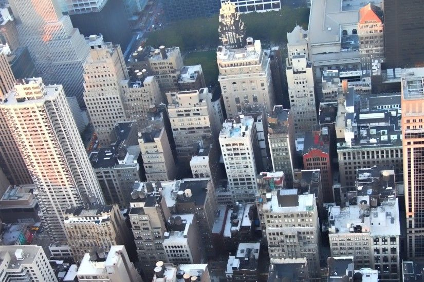 Preview wallpaper new york, top view, building 1920x1080