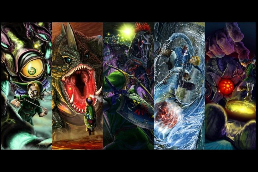 ocarina of time boss battles in chronological order centered