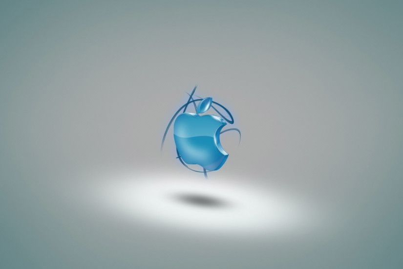 Blue 3D Apple 1920x1200 wallpaper