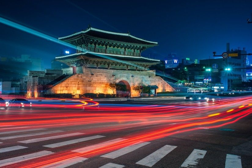 Seoul Special Capital City Night Light South Korea Hd Desktop . ...