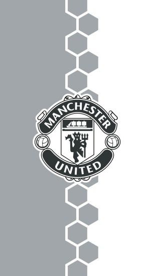 Manchester United iPhone Wallpaper Black and White