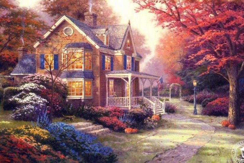 ... thomas kinkade wallpaper HD ...