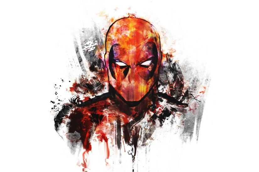 Deadpool, Digital Art, White Background, Artwork, Superhero Wallpapers HD /  Desktop and Mobile Backgrounds