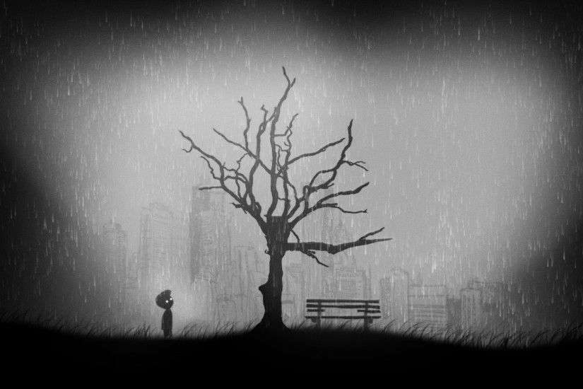 Preview wallpaper limbo, ruins of city, puzzle-platformer 1920x1080