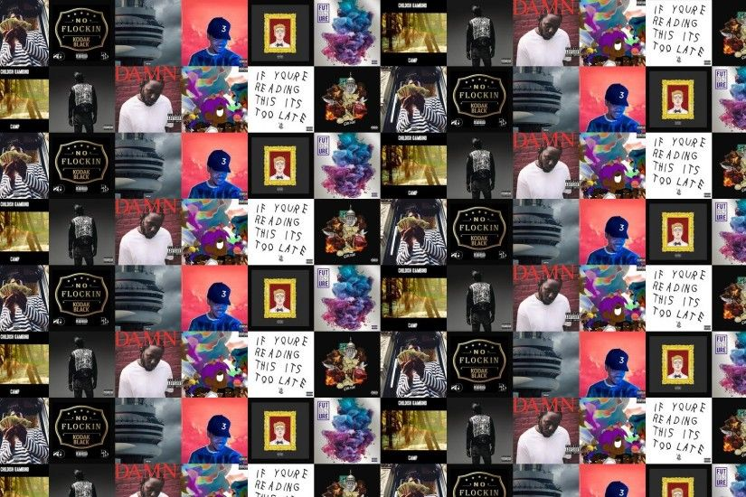 Download this free wallpaper with images of Lil Uzi Vert – , Drake – If  Youre Reading This, Migos – Culture, PlayBoi Carti – , Kodak Black – ,  Drake – Views ...