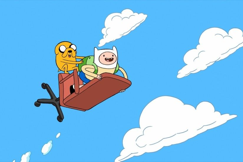 adventure time chair clouds finn the human jake the dog Wallpaper HD