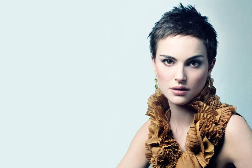natalie portman short hair wallpaper
