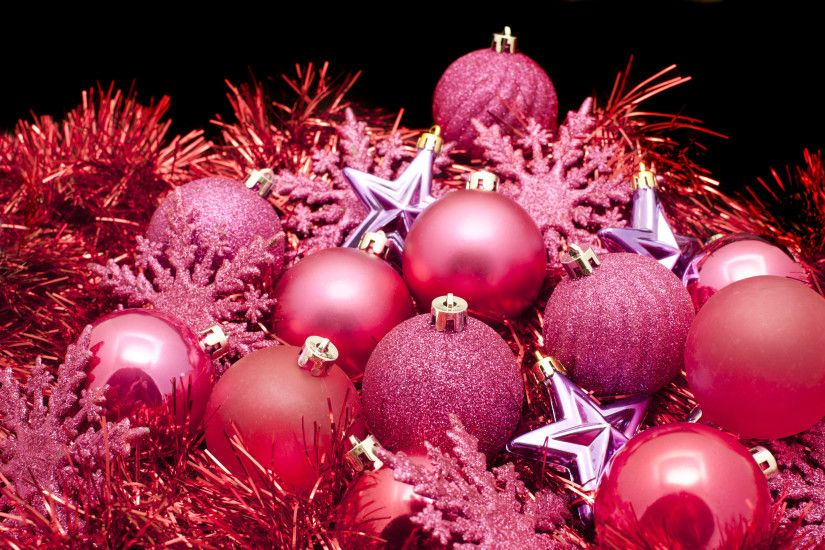 Photo Of Red Christmas Decorations Free Images An Arrangemnt Cooured  Decroations Baubles Tree Ornaments And Tinsel ...