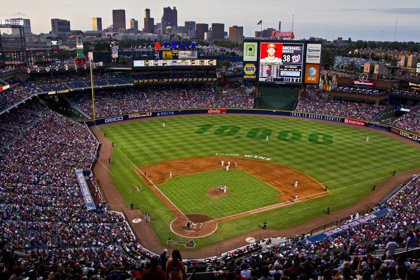 Sports, Atlanta Braves Stadium, Braves, Baseball, Atlanta Braves, Stadium,  Mlb