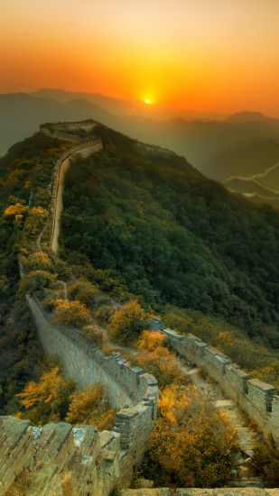 Man Made Great Wall Of China Monuments Sunset China. Wallpaper 400667