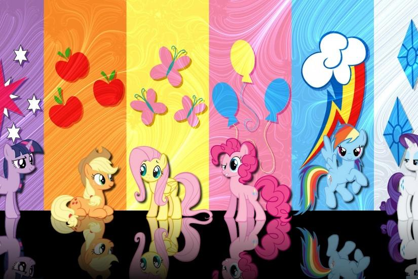 MLP Fim] Mane 6 Wallpaper by Phafy on DeviantArt