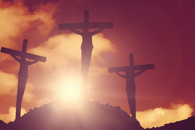 Crosses on a hill crucifixion cross jesus christ christian religion church  bible Motion Background - VideoBlocks