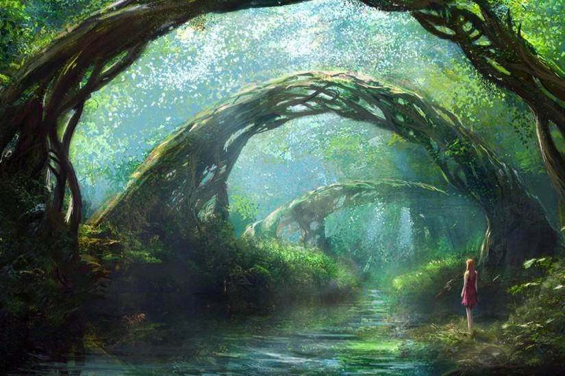 Fantasy Forest Wallpaper Wide or HD | Fantasy Wallpapers