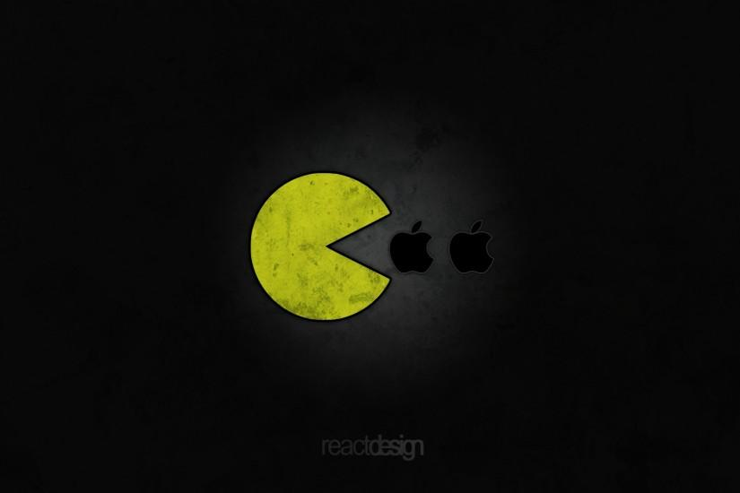 Pac-Man likes Apple: 1920x1080 by reactdesign on DeviantArt