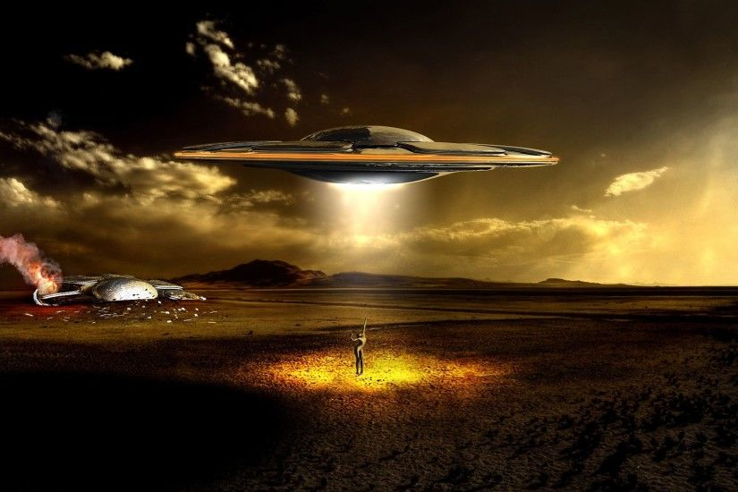 Photography Manipulation CGI Digital Art UFO Invasion Apoclyptic Alien  Invasion Wallpaper