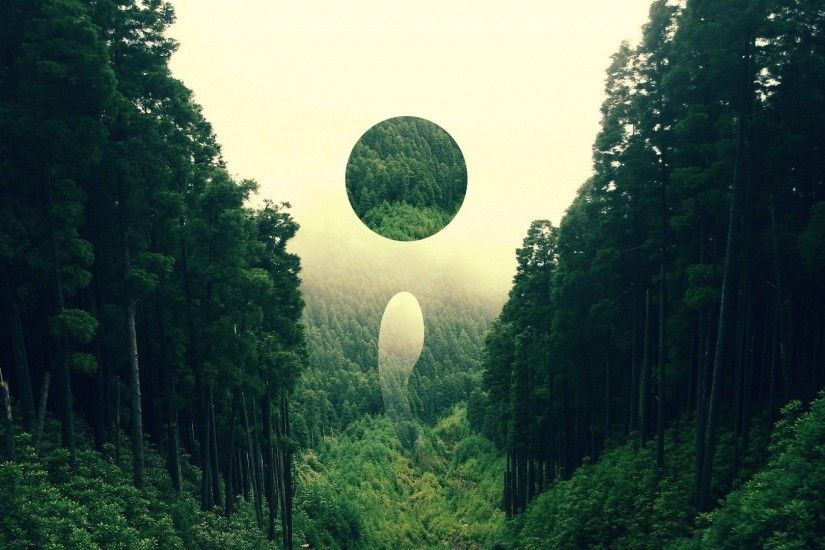 forest, Landscape, Nature, Abstract, Digital Art, Circle Wallpapers HD /  Desktop and Mobile Backgrounds