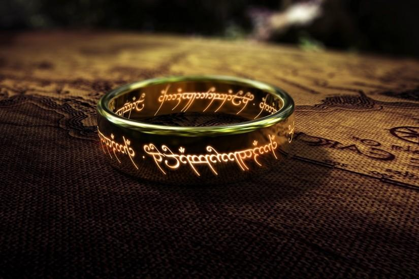 fantasy Art, The Lord Of The Rings, Map, Rings, Depth Of Field, The One Ring  Wallpaper HD