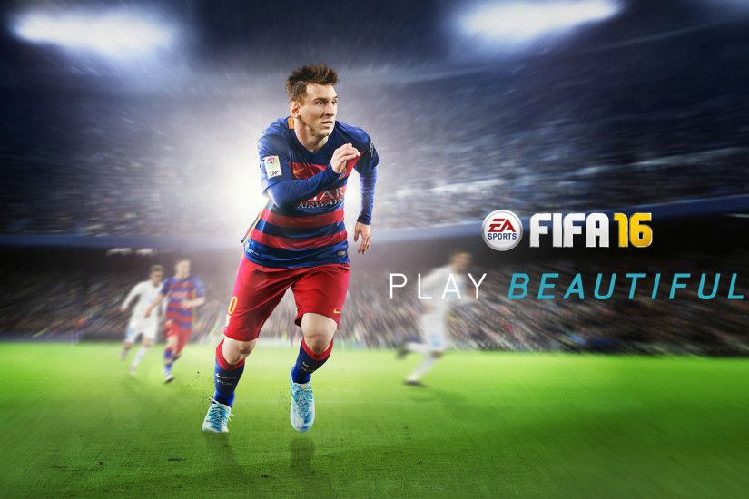 2560x1600 Lionel Messi FIFA 16 Wallpaper