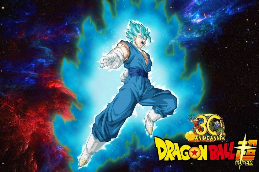 Dragon Ball Super Wallpaper - Vegito Saiyan Blue by WindyEchoes