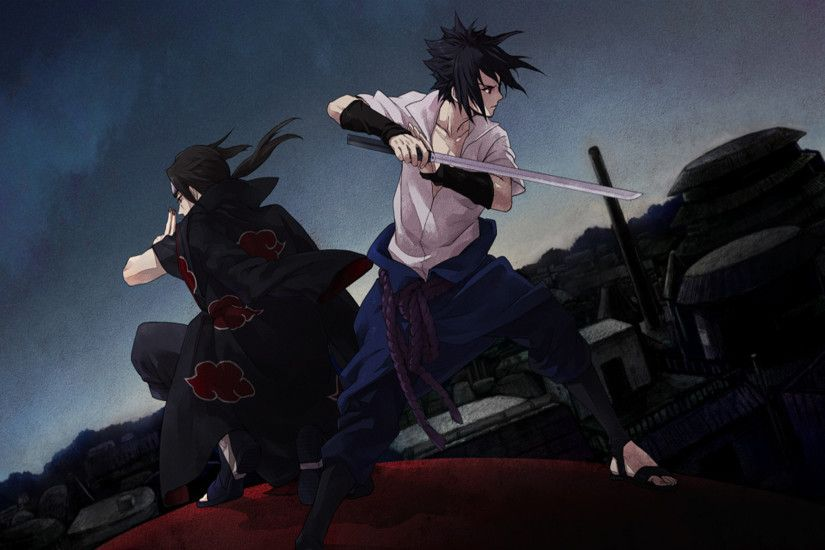 Tags: Anime, NARUTO, Uchiha Itachi, Uchiha Sasuke, Wallpaper, HD Wallpaper