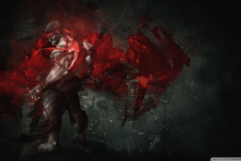 Evil Ryu HD Wide Wallpaper for Widescreen