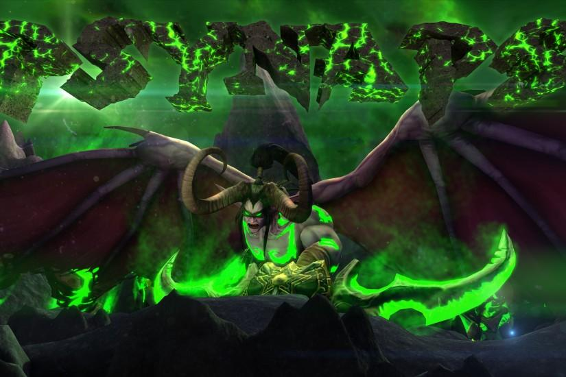 WoW Legion Illidan Custom Character 4K Wallpaper