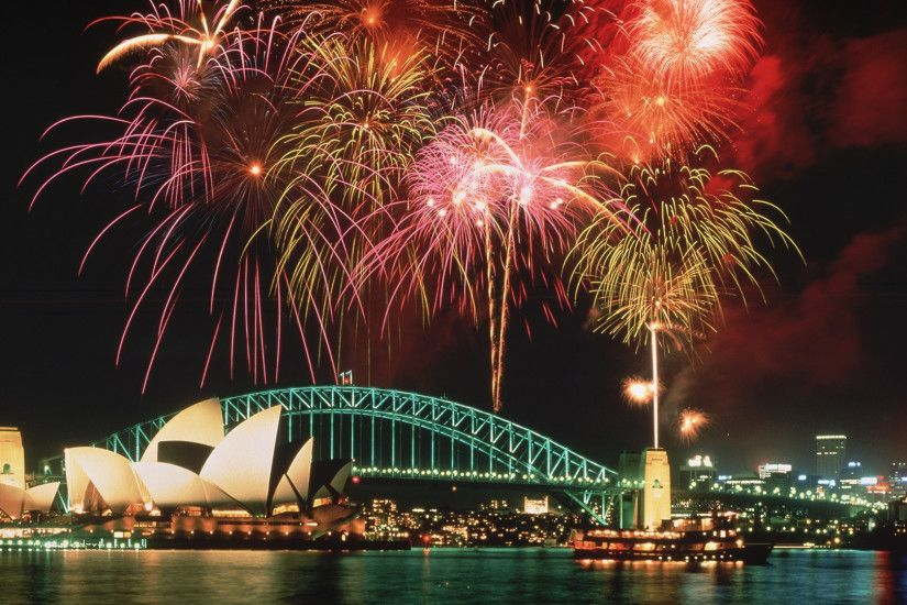 Preview wallpaper sydney, fireworks, holiday, joy 1920x1080