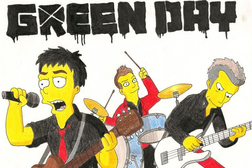 ... RadioactivePencil Green Day as The Simpsons by RadioactivePencil