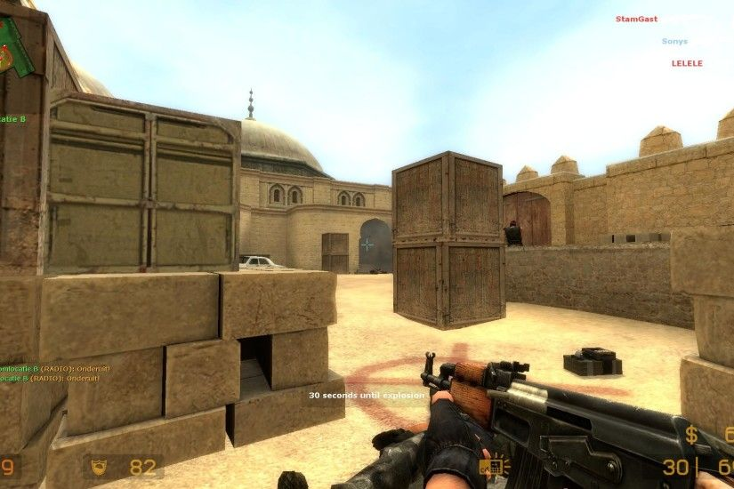 de_dust2 Counter Strike Source css screenshot