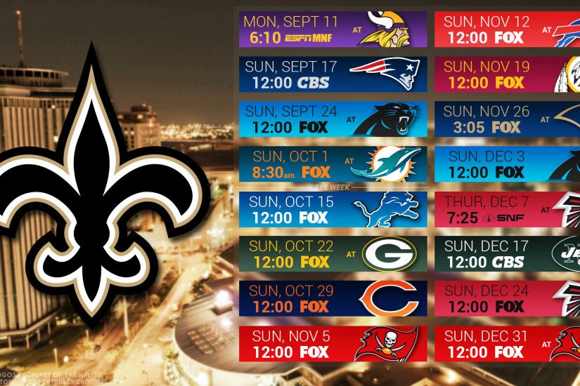 New Orleans Saints 2017 schedule city football logo wallpaper free pc  desktop computer ...