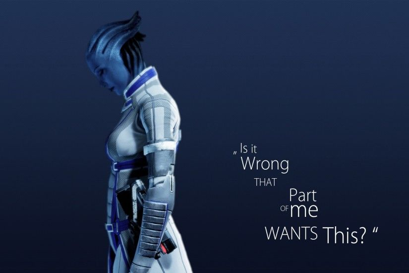 3840x2160 Wallpaper mass effect 3, asari, character, quote, background
