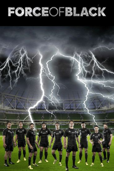 "All Blacks rugby - ""Force of Black"" poster created by Gordon Tunstall using  Adobe"