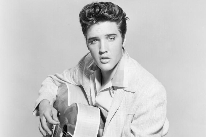 Elvis Presley Rock and Roll music musician singer actor guitar retro black  and white eyes beautiful wallpaper | 1920x1280 | 122700 | WallpaperUP