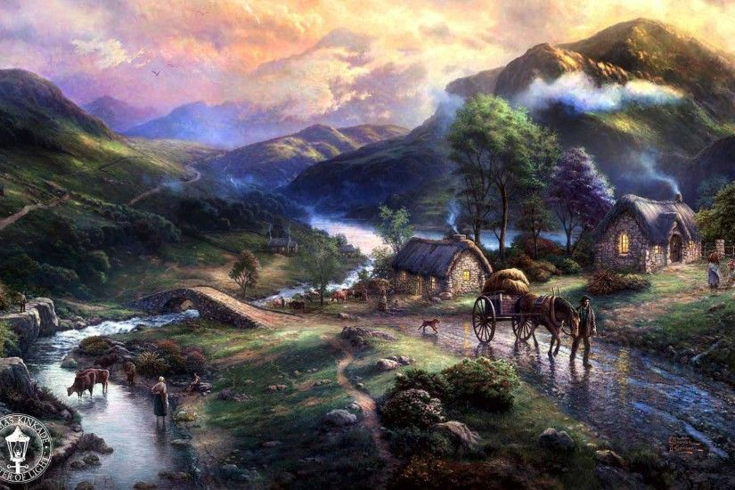 ... Awesome Thomas Kinkade Wallpaper Download free wallpapers and desktop  backgrounds in a variety of screen resolutions