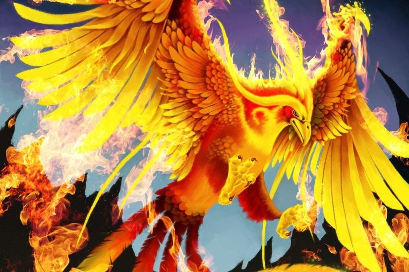 Magical Animals Birds Fire Phoenix Fantasy Wallpaper At Fantasy Wallpapers