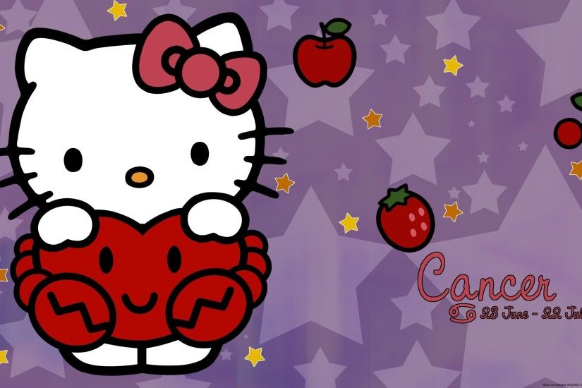 Hello Kitty Pink And Black Love Wallpaper Desktop Background .