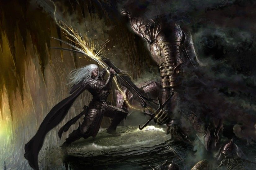 fantasy Art, Artwork, Drizzt DoUrden Wallpapers HD / Desktop and Mobile  Backgrounds