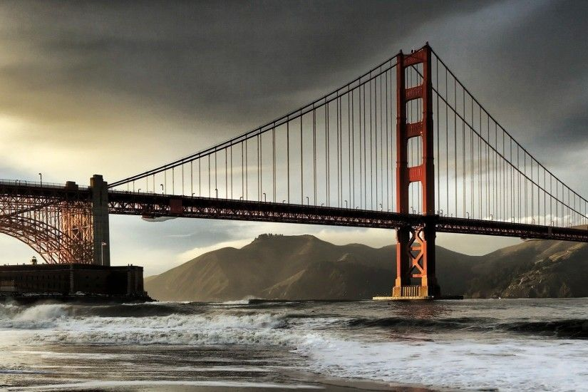Windows 8 official panoramic wallpaper, cityscapes, Bridge