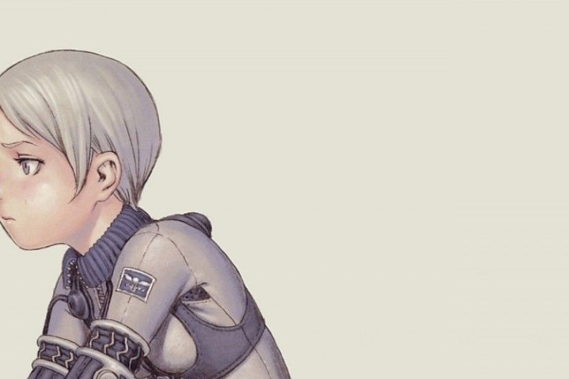 3840x1200 Wallpaper last exile range murata, girl, pose, barrel