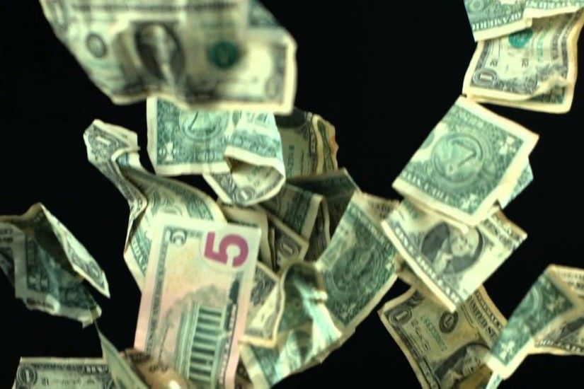 Slow Motion Falling Money US DollarsMotion Background