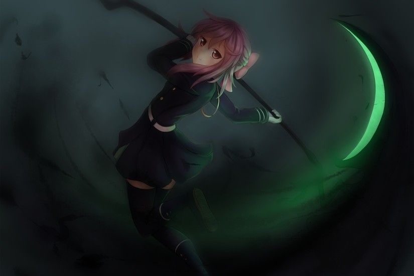 Wallpaper Onamae kun, Owari no seraph, Hiiragi shinoa, Girl, Art