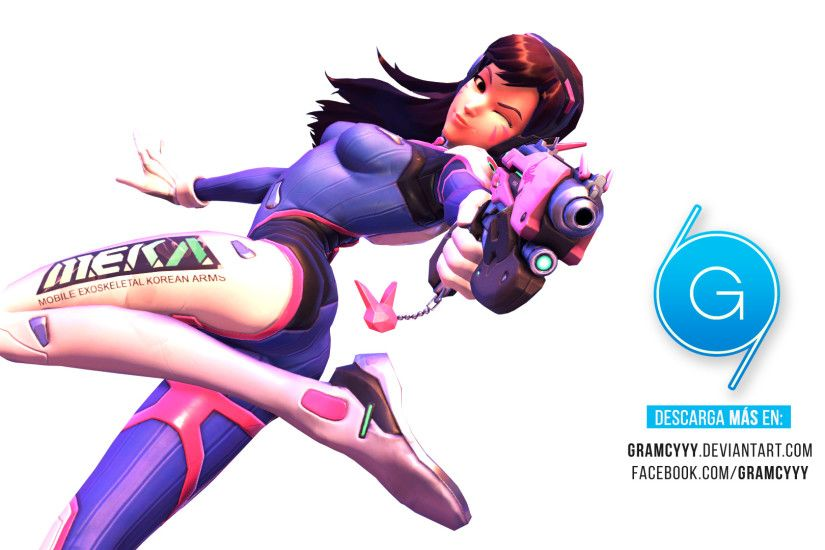 dva render - overwatch by gramcyyy on deviantart