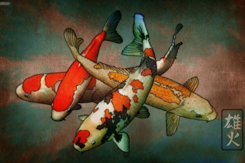Koi fish drawing wallpaper - photo#7