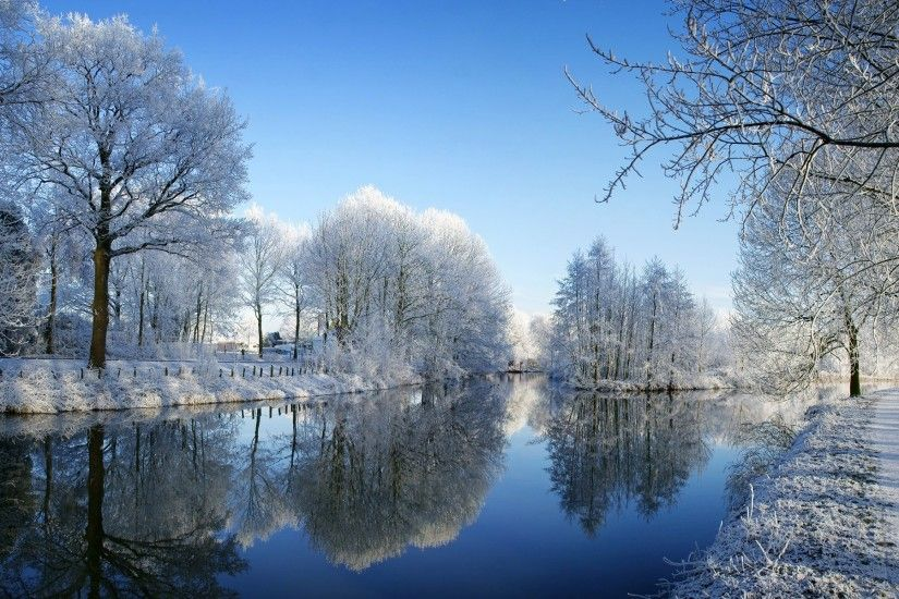 Kromme Rijn Wallpaper Winter Nature