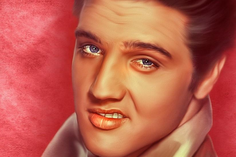 Preview wallpaper elvis presley, singer, art 3840x2160